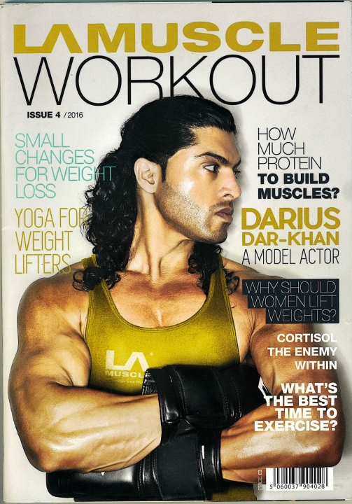 Darius On The Front Cover OF LA Muscle Workout Magazine