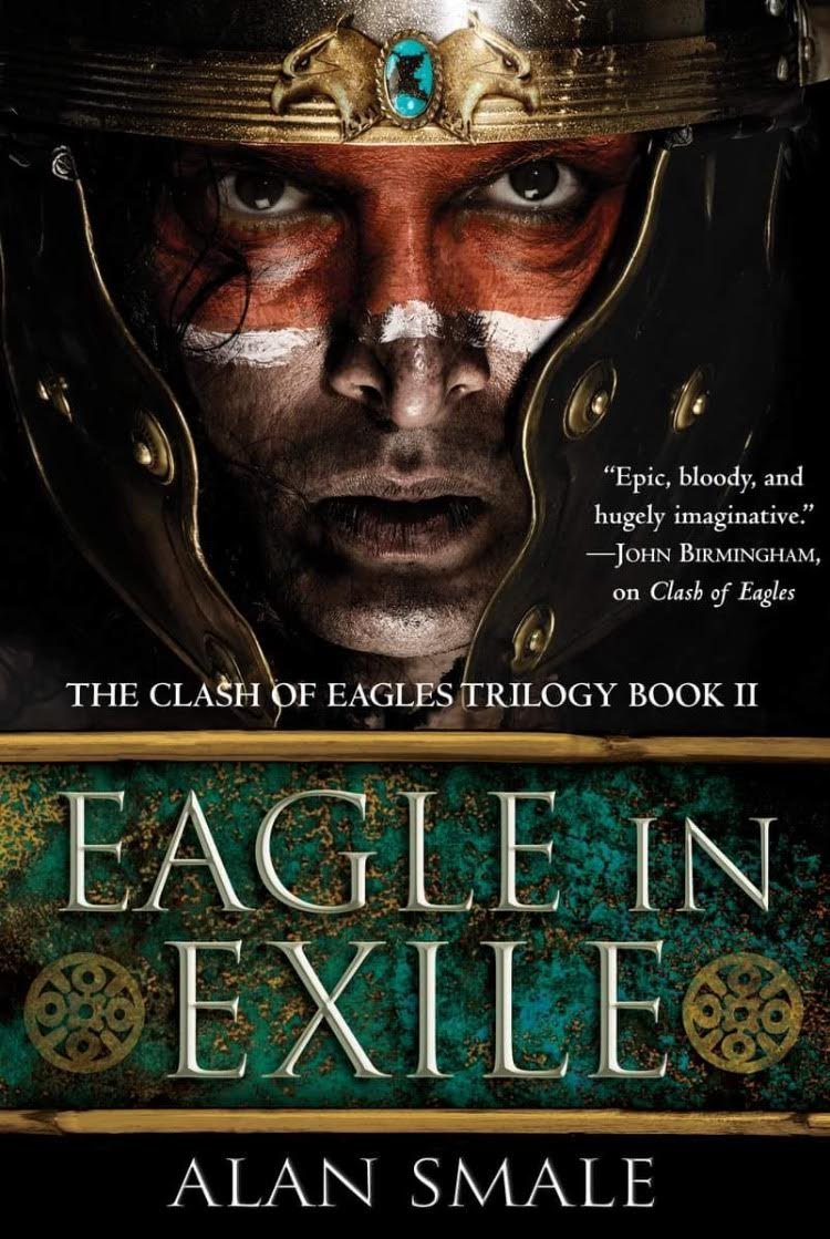 Darius Dar Khan On The Cover Of Eagle Of Exile ( New York Best Seller )