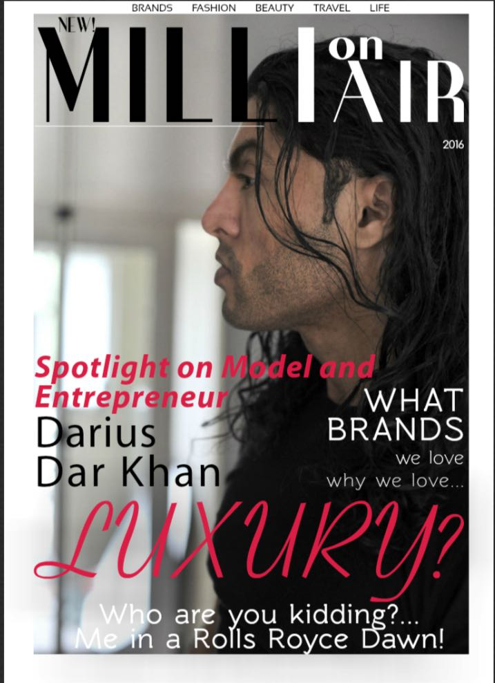 Darius Dar Khan On The Cover Of Millionair Magazine
